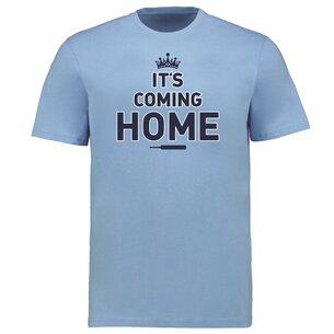 Team England Cricket Cotton T Shirt Mens