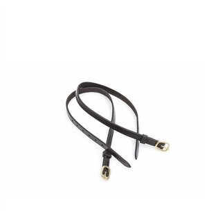 Shires Black Leather Spur Strap Adults