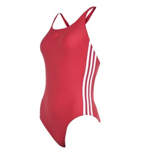 adidas Womens Fit 3 Stripes Swimsuit