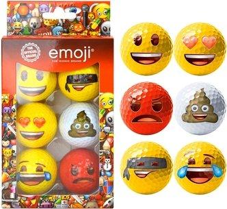Emoji 6 Pack Golf Balls Adults