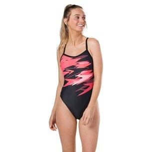 Speedo Boom Plummet Thin Strap Swimsuit Ladies