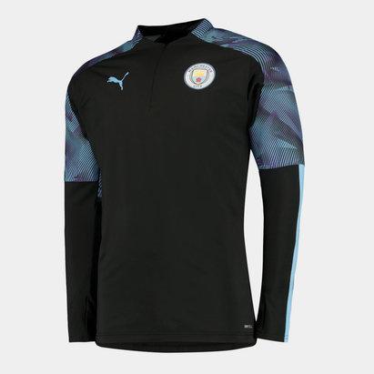 Puma Manchester City 19/20 Kids 1/4 Zip Football Training Top