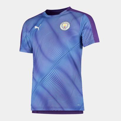 Puma Manchester City 19/20 Kids Stadium Football T-Shirt