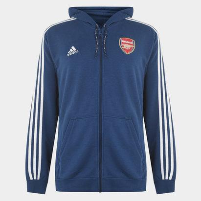 adidas Arsenal 19/20 Full Zip Hooded Football Top