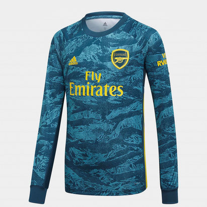 adidas Arsenal 19/20 Kids Home Goalkeeper L/S Football Shirt