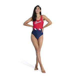 Speedo Heritage Shoreline U Back Swimsuit Ladies