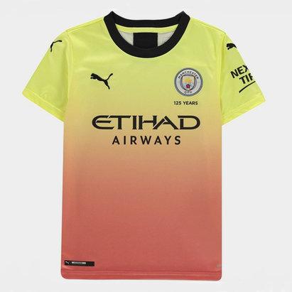 Puma Manchester City 19/20 Kids 3rd S/S Football Shirt