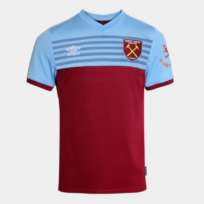 Umbro West Ham United 19/20 Kids Home S/S Football Shirt