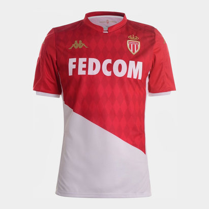 Kappa AS Monaco 19/20 Home Shirt Mens