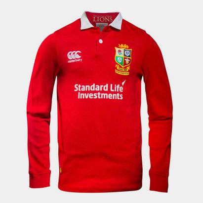 Canterbury British and Irish Lions Junior Classic Long Sleeve Rugby Shirt