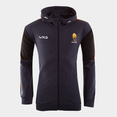 VX3 Worcester Warriors 2019/20 Kids Full Zip Hooded Sweat