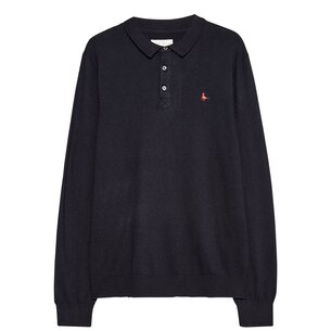 Jack Wills Alfie Long Sleeve Knitted Polo Shirt