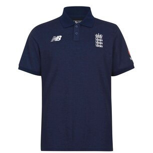 New Balance ECB England Cricket Polo Shirt Mens