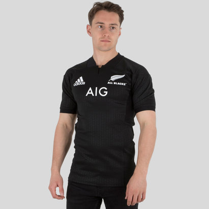 adidas New Zealand All Blacks 2017 Home Performance Rugby Shirt