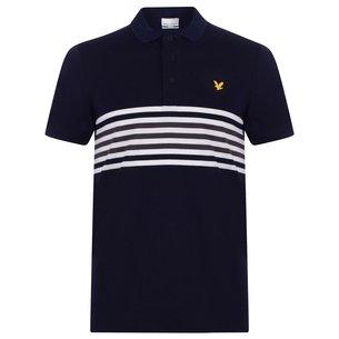 Lyle and Scott Plus Stripe Polo Shirt Mens
