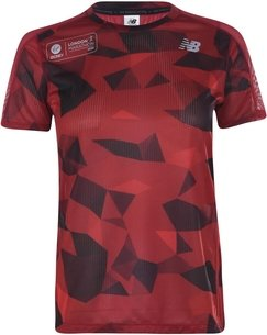 New Balance London Edition Printed Impact Run Short Sleeve Womens