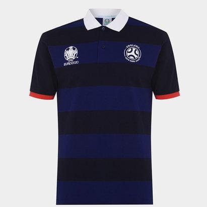 UEFA Euro 2020 England Stripe Polo Shirt Mens