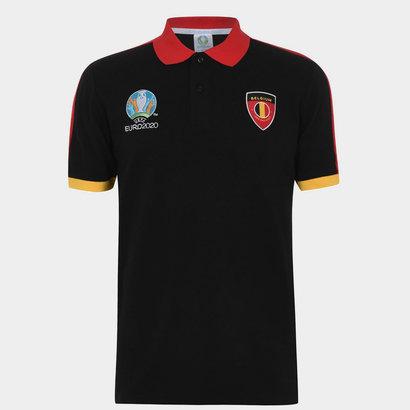 UEFA Euro 2020 Belgium Polo Shirt Mens