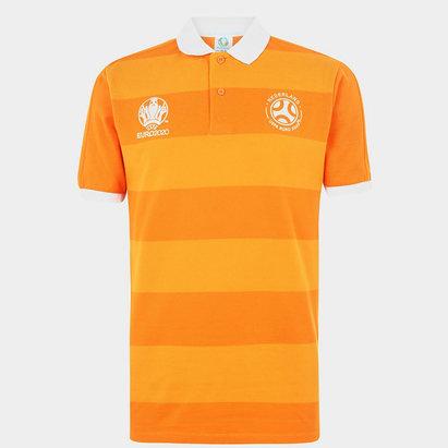 UEFA Euro 2020 Holland Stripe Polo Shirt Mens