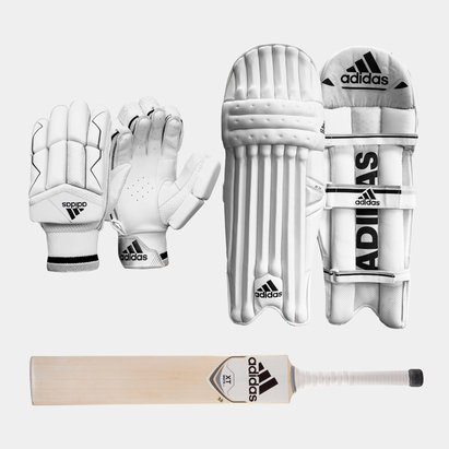 adidas XT 3.0 Gloves Pads and Bat Bundle
