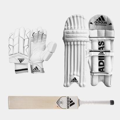 adidas XT 4.0 Gloves Pads and Bat Bundle