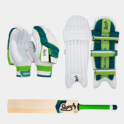 Kookaburra Kahuna 2.0 Gloves Pads and Bat Bundle