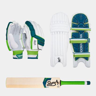 Kookaburra Kahuna Pro Gloves Pads and Bat Bundle