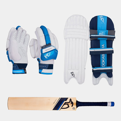 Kookaburra Rampage 4.0 Gloves Pads and Bat Bundle
