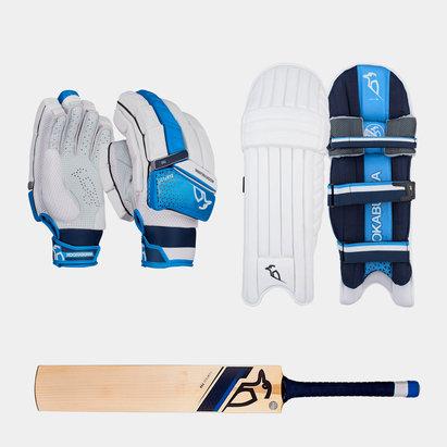 Kookaburra Rampage Pro Gloves Pads and Bat Bundle