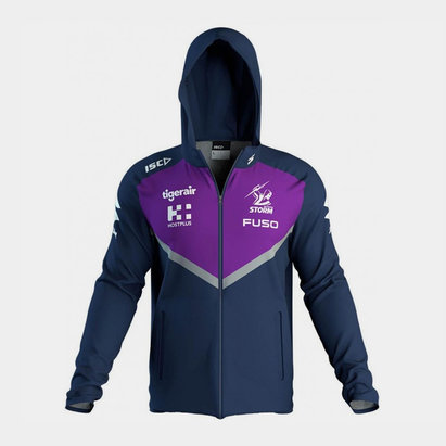 BLK Melbourne Storm NRL 2019 Squad Hooded Rugby Sweat