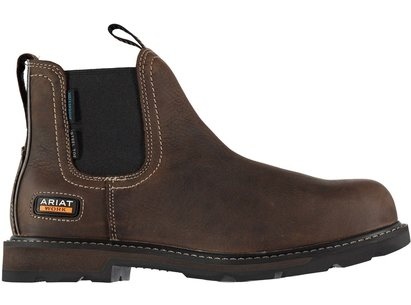 Ariat Groundbreaker Waterproof Steel Toe Mens Work Boots - Dark Brown