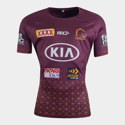 ISC Brisbane Broncos NRL 2020 Players Rugby Training T-Shirt
