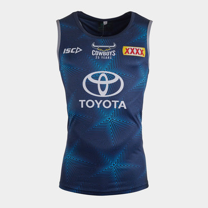 ISC North Queensland Cowboys NRL 2020 Players Rugby Training Singlet