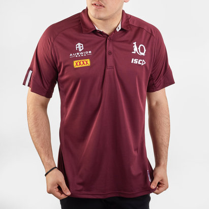 ISC Queensland Maroons NRL 2020 Players Rugby Polo Shirt