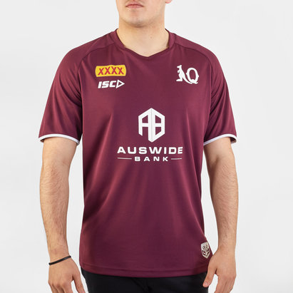 ISC Queensland Maroons NRL 2020 Players Rugby Training T-Shirt