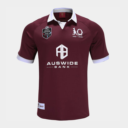 ISC Queensland Maroons NRL 2020 Kids Home S/S Rugby Shirt