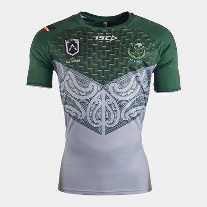 ISC New Zealand Maori All Stars 2020 NRL Players Rugby Training T-Shirt