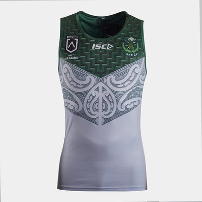 ISC New Zealand Maori All Stars 2020 NRL Players Rugby Training Singlet