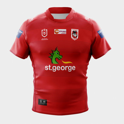 X Blades St George Illawarra Dragons 2020 NRL Alternate S/S Rugby Shirt