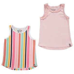 2 Pack Jersey Vests Infant Girls
