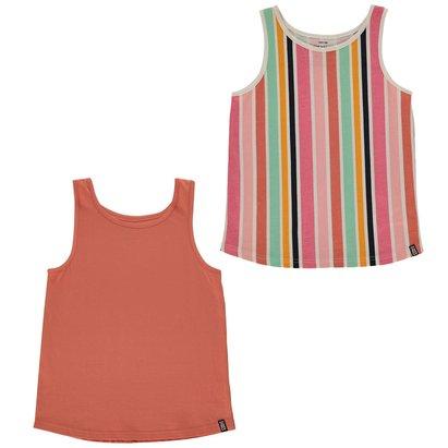 2 Pack Jersey Vests Junior Girls
