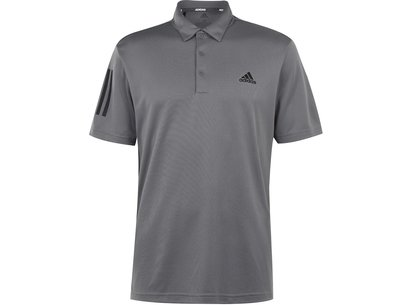 adidas 3 Stripe Basic Polo Shirt Mens