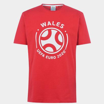 UEFA Euro 2020 Wales Graphic T-Shirt Mens