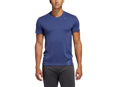 adidas Aeroready 3 Stripe T Shirt Mens