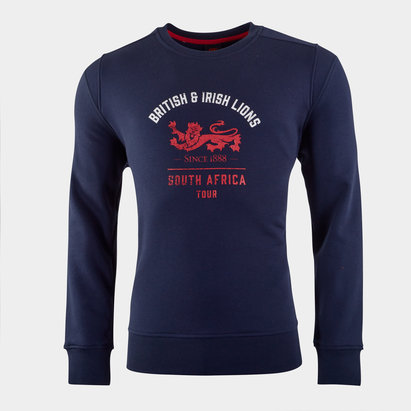 Canterbury British and Irish Lions Crew Sweatshirt Mens