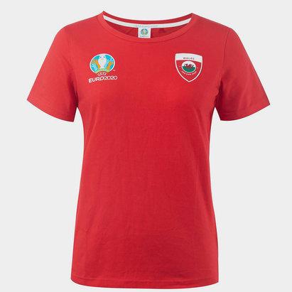 UEFA Euro 2020 Wales Core T Shirt Ladies
