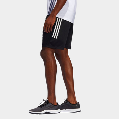 adidas 3 Stripe Training Shorts Mens
