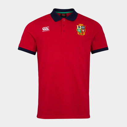 Canterbury and Irish Lions Nations Polo Shirt Mens