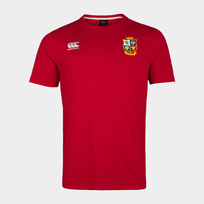 Canterbury British and Irish Lions Jersey T Shirt Mens