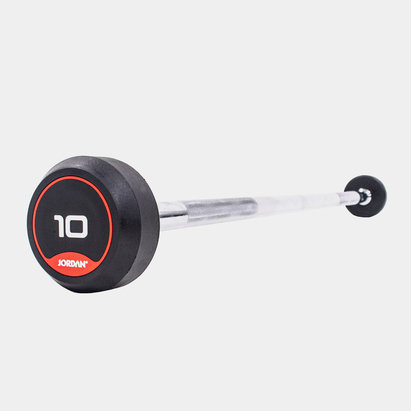 Jordan 10kg Classic Rubber Barbell with Straight Bar